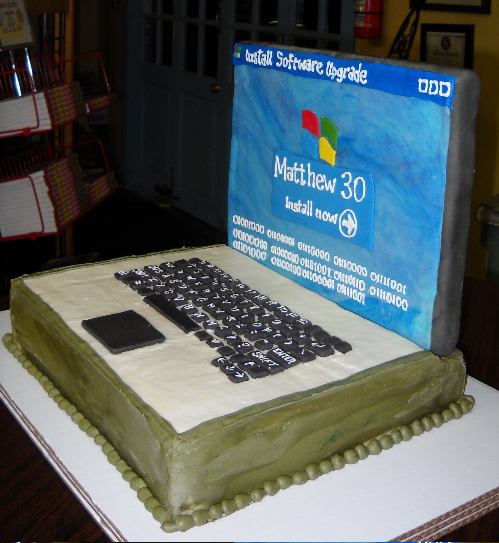 Cake Talk Laptop Cake