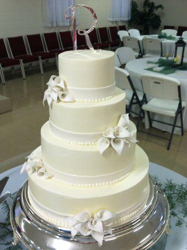 Cake Talk Wedding Cakes - Calla Lilly Wedding Cake